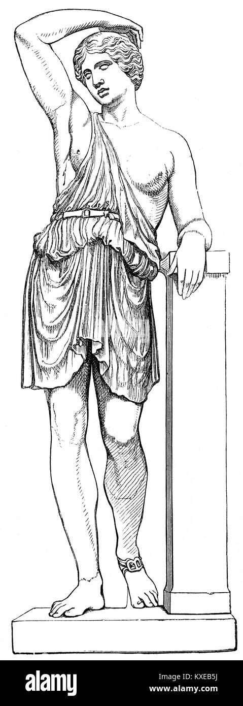 An Amazon, a woman warrior, Greek mythology - Stock Image