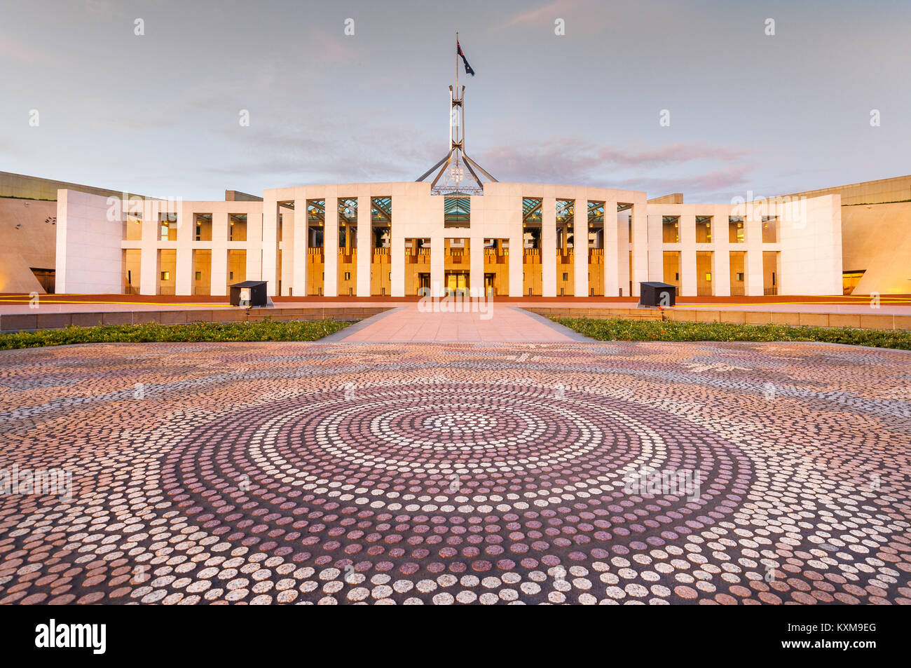 House of Parliament in Canberra. - Stock Image