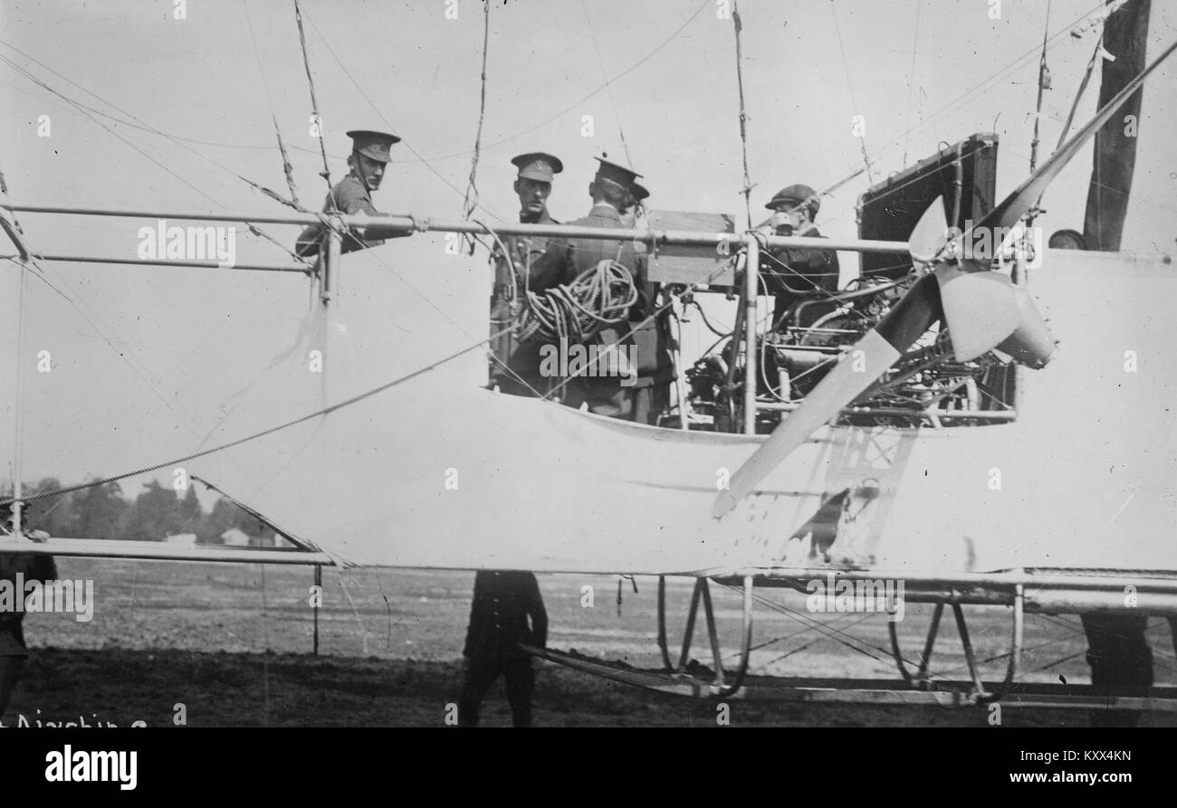 Car of British Airship GAMMA - Stock Image