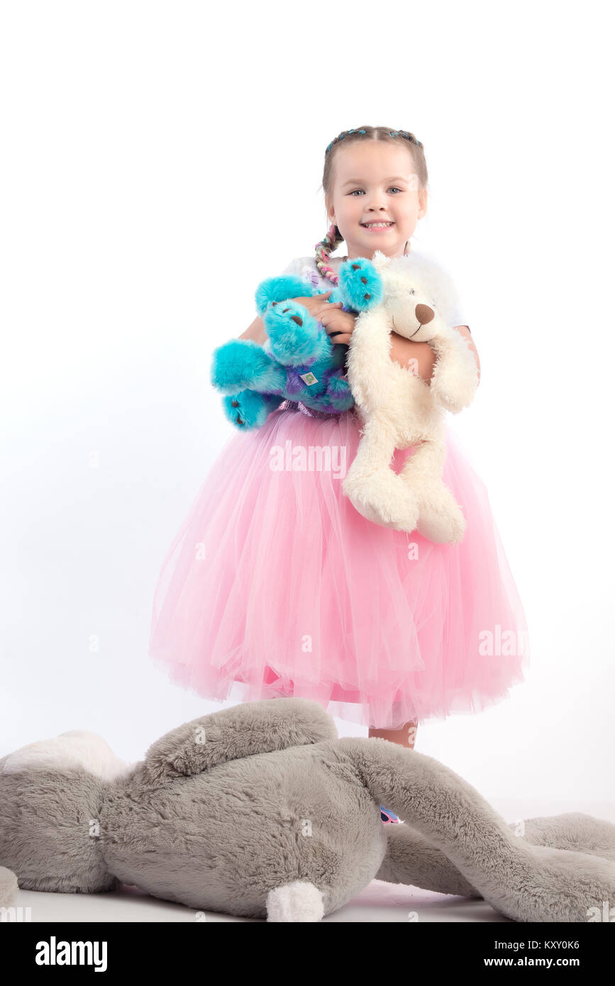 Little Girl Toys : Big toy with kid stock photos
