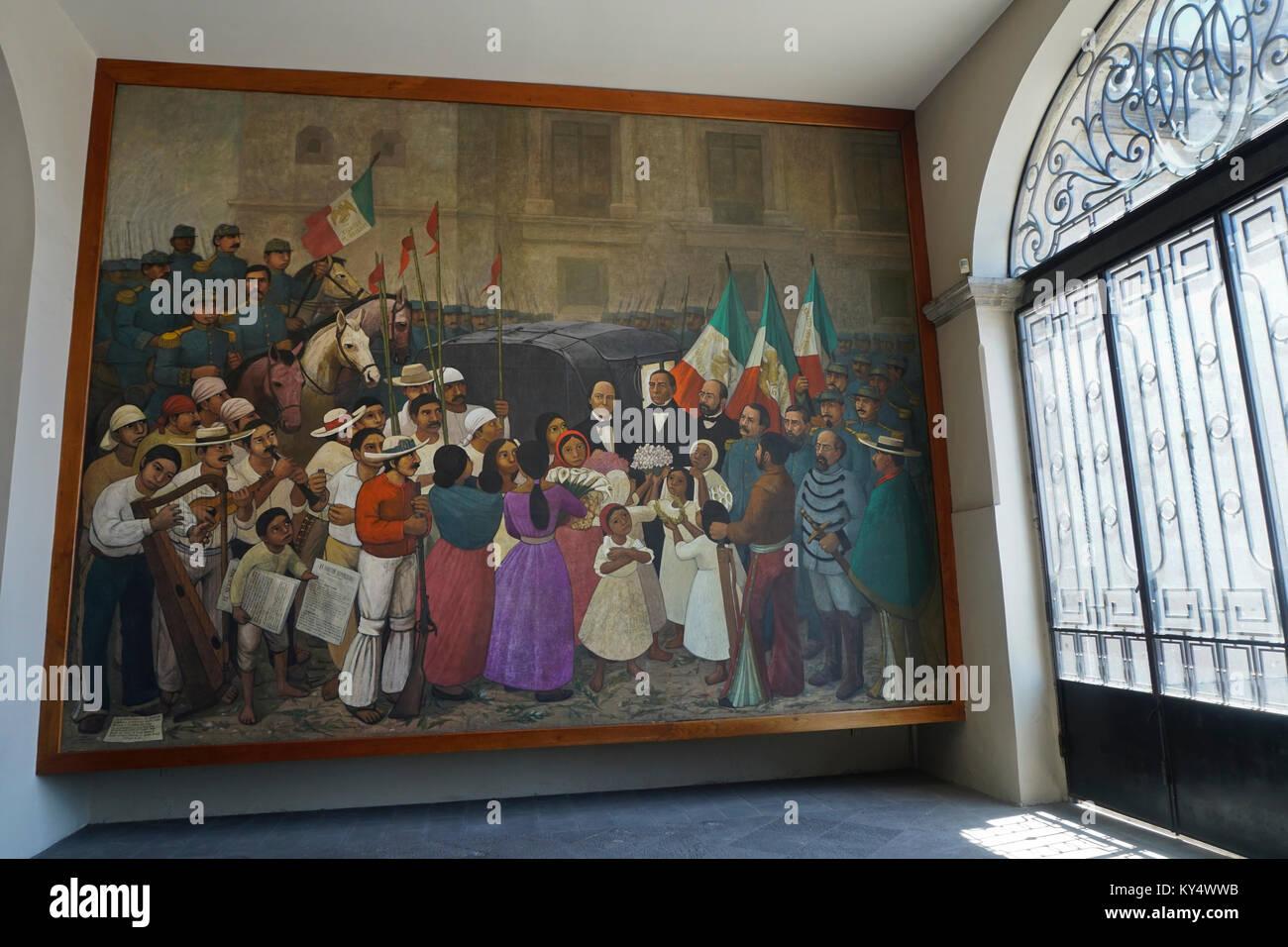 Orozco fresco stock photos orozco fresco stock images for Benito juarez mural