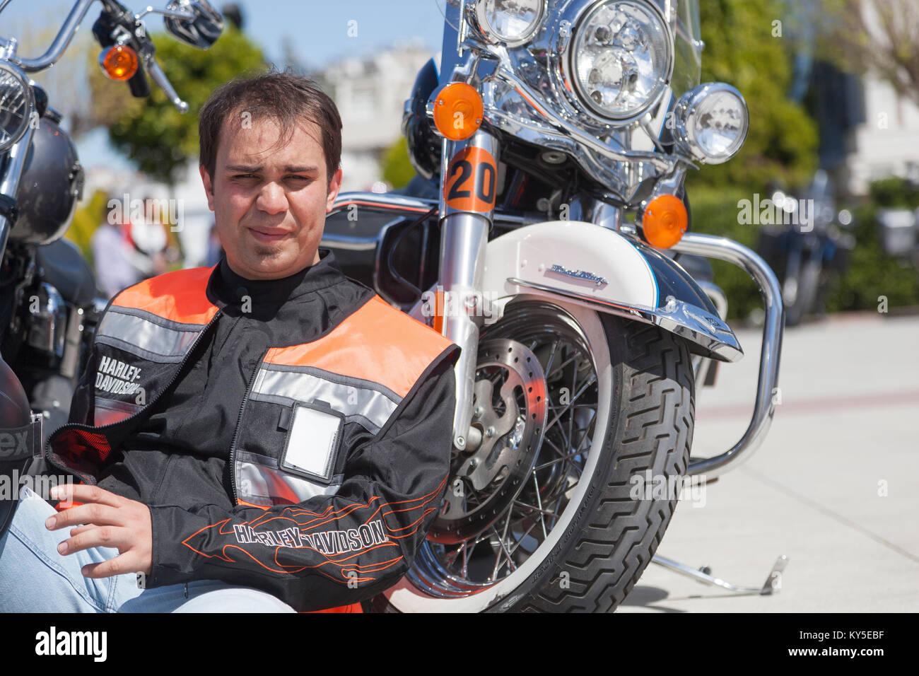 Biker gang stock photos biker gang stock images alamy for A m motors paris ky