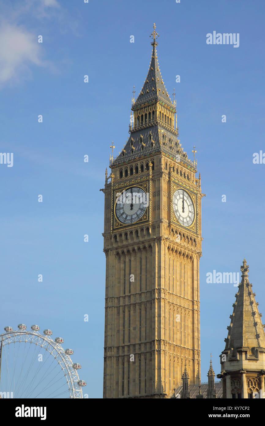 big ben clock tower london - Stock Image