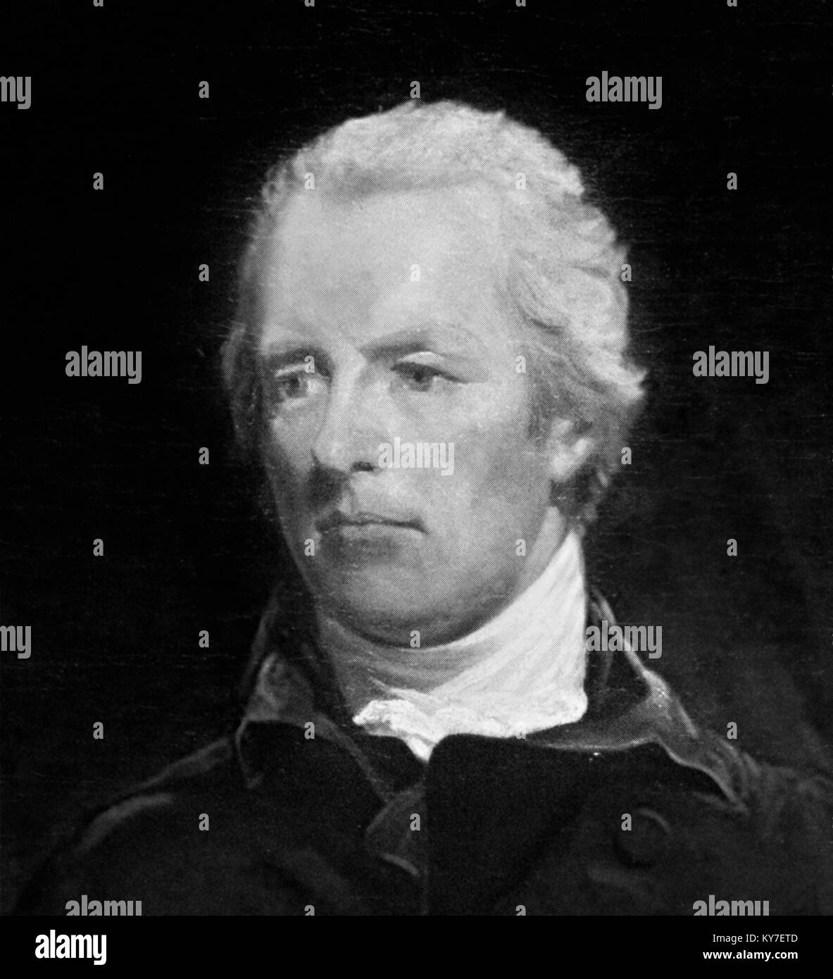 William Pitt the Younger (1759-1806), British Prime Minister at the end of the 18th and beginning of 19th centuries. - Stock Image