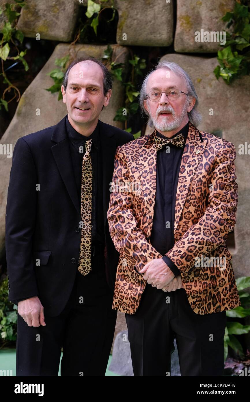 London, UK. 14th Jan, 2018. Peter Lord and David Sproxton attends the World Premiere of Early Man at BFI IMAX. Pictured: - Stock Image