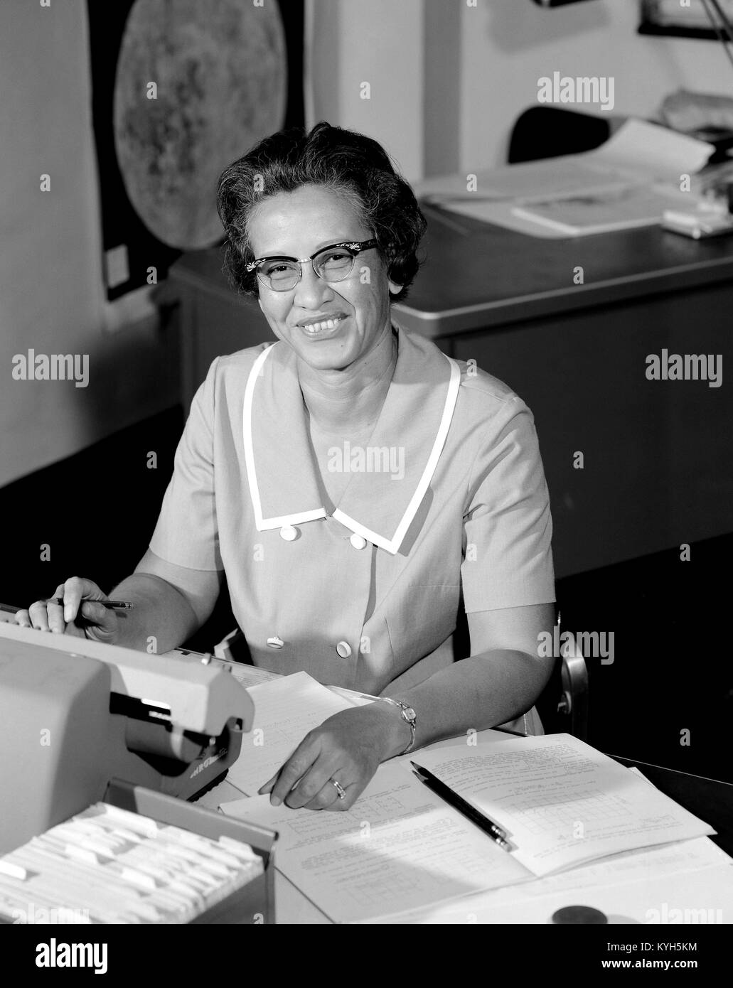 Katherine Johnson, Katherine Coleman Goble Johnson, African-American mathematician who made contributions to the - Stock Image