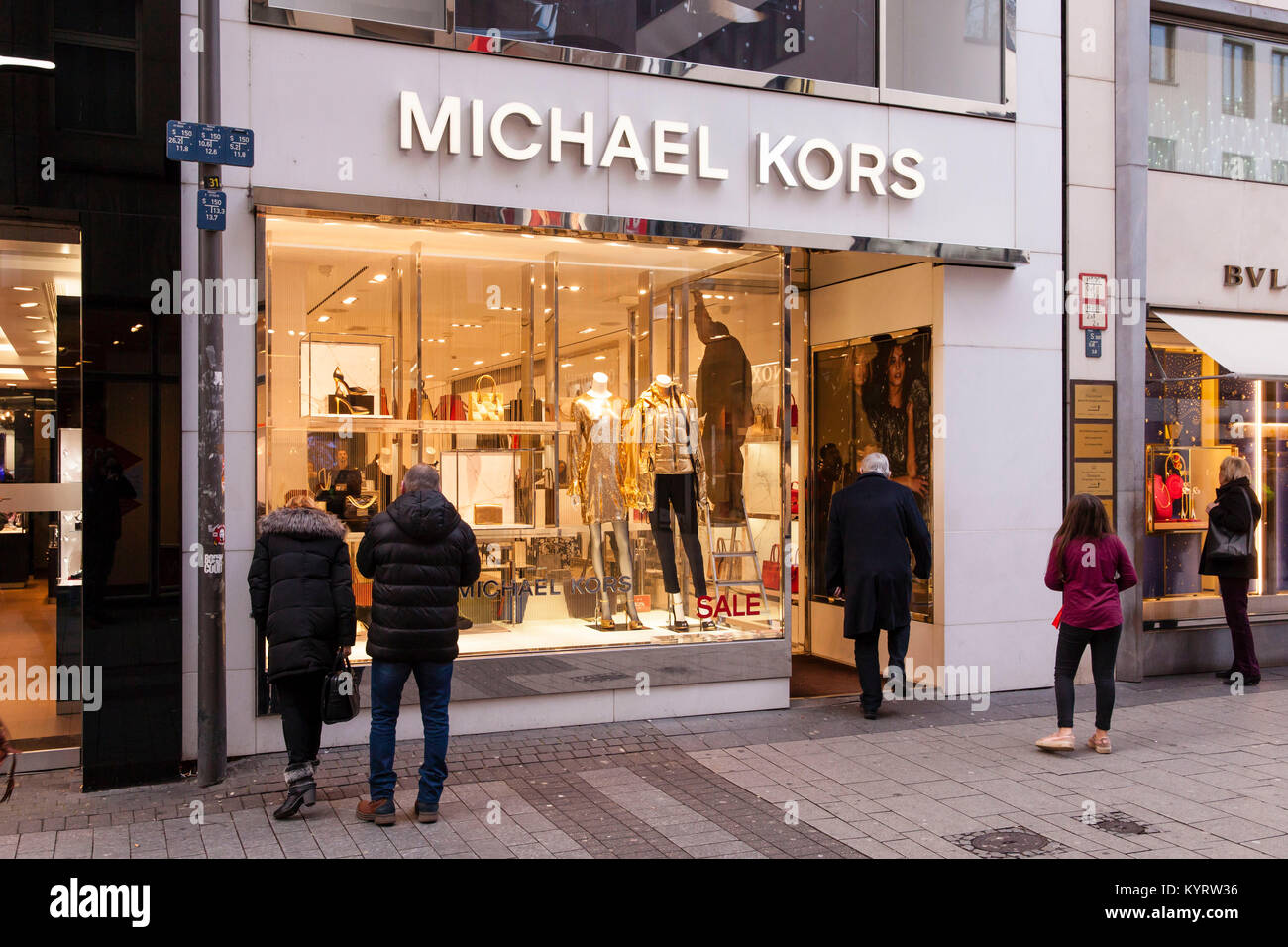 michael kors fashion store shop stock photos michael. Black Bedroom Furniture Sets. Home Design Ideas