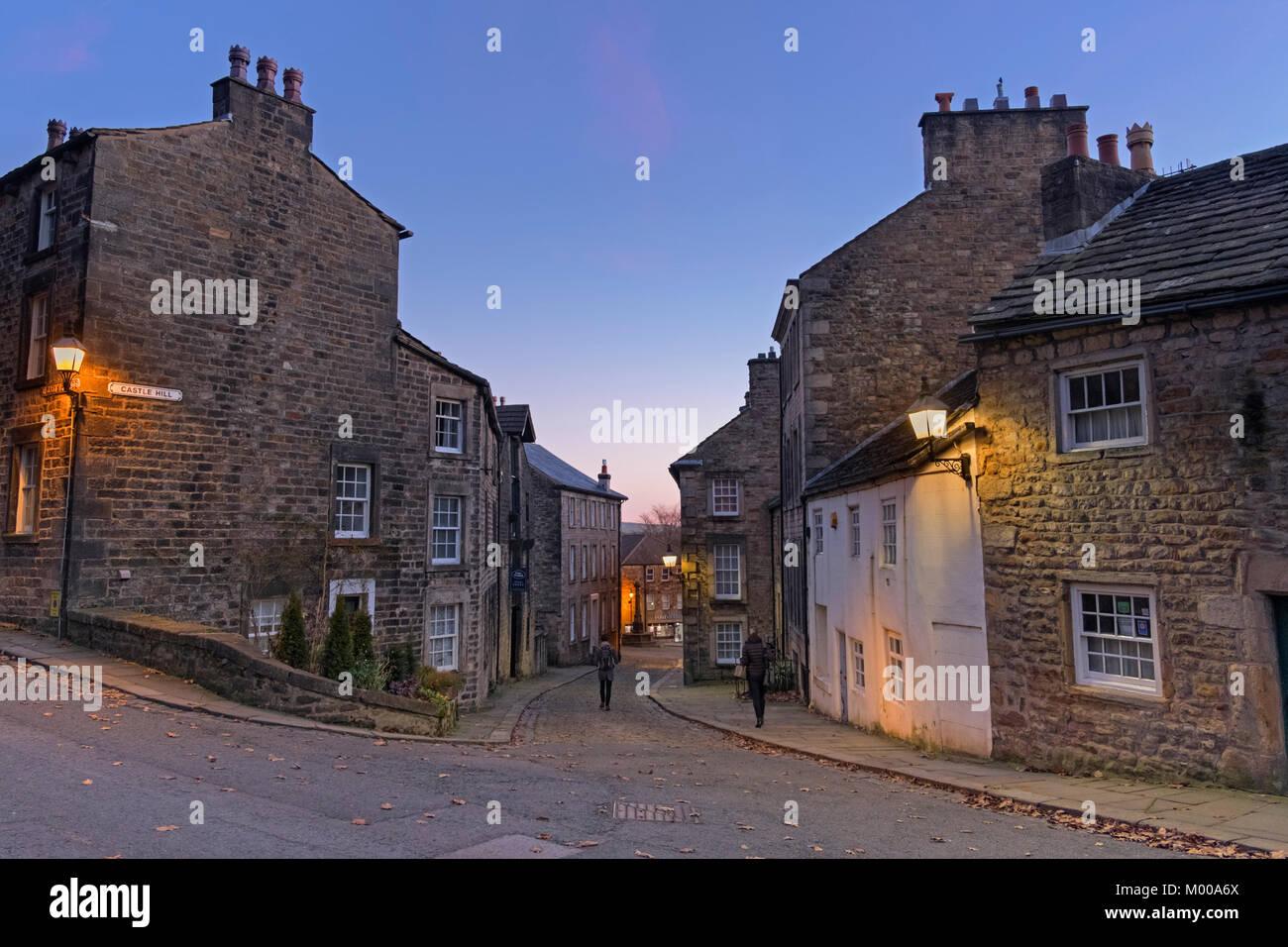 Castle Hill Lancaster Lancashire UK - Stock Image