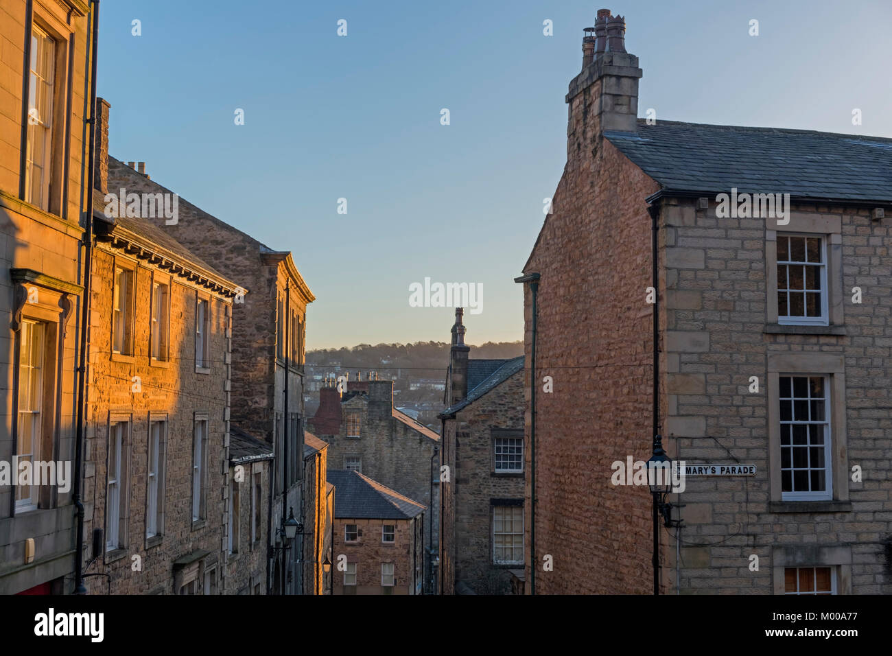 St Mary's Parade Castle Hill Lancaster Lancashire UK - Stock Image