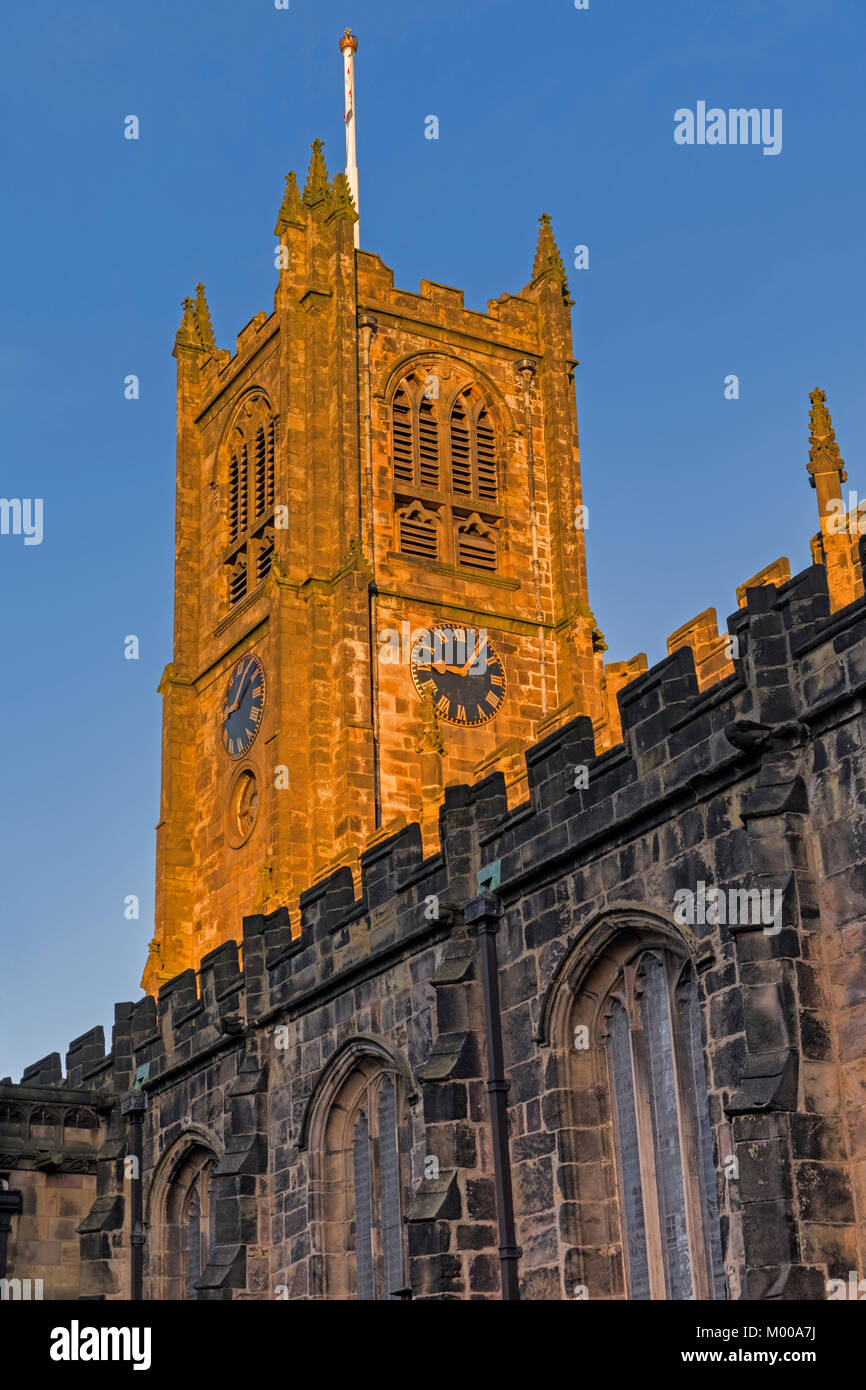 Lancaster Priory Church Lancaster Lancashire UK - Stock Image