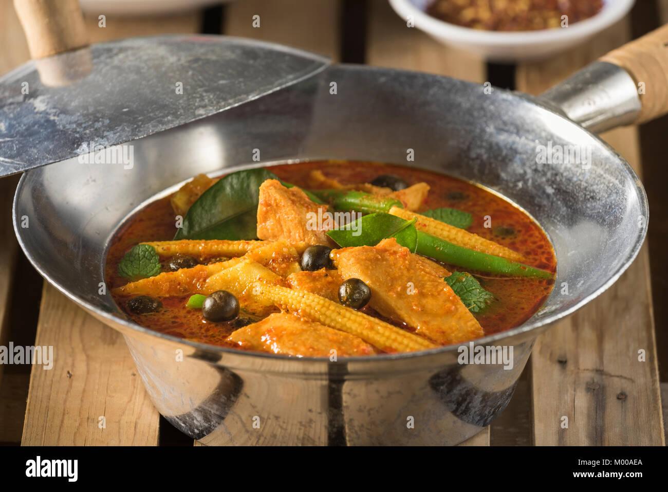 Thai jungle curry Thailand Food - Stock Image