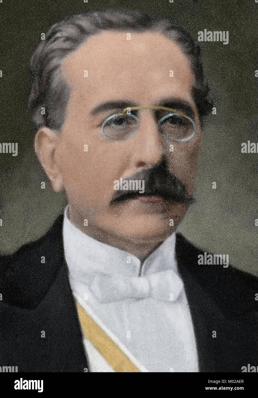 Camilo Fabra and Fontanills (1833-1902). First Marquis of Alella. Industrial, aristocrat and Catalan politician. - Stock Image