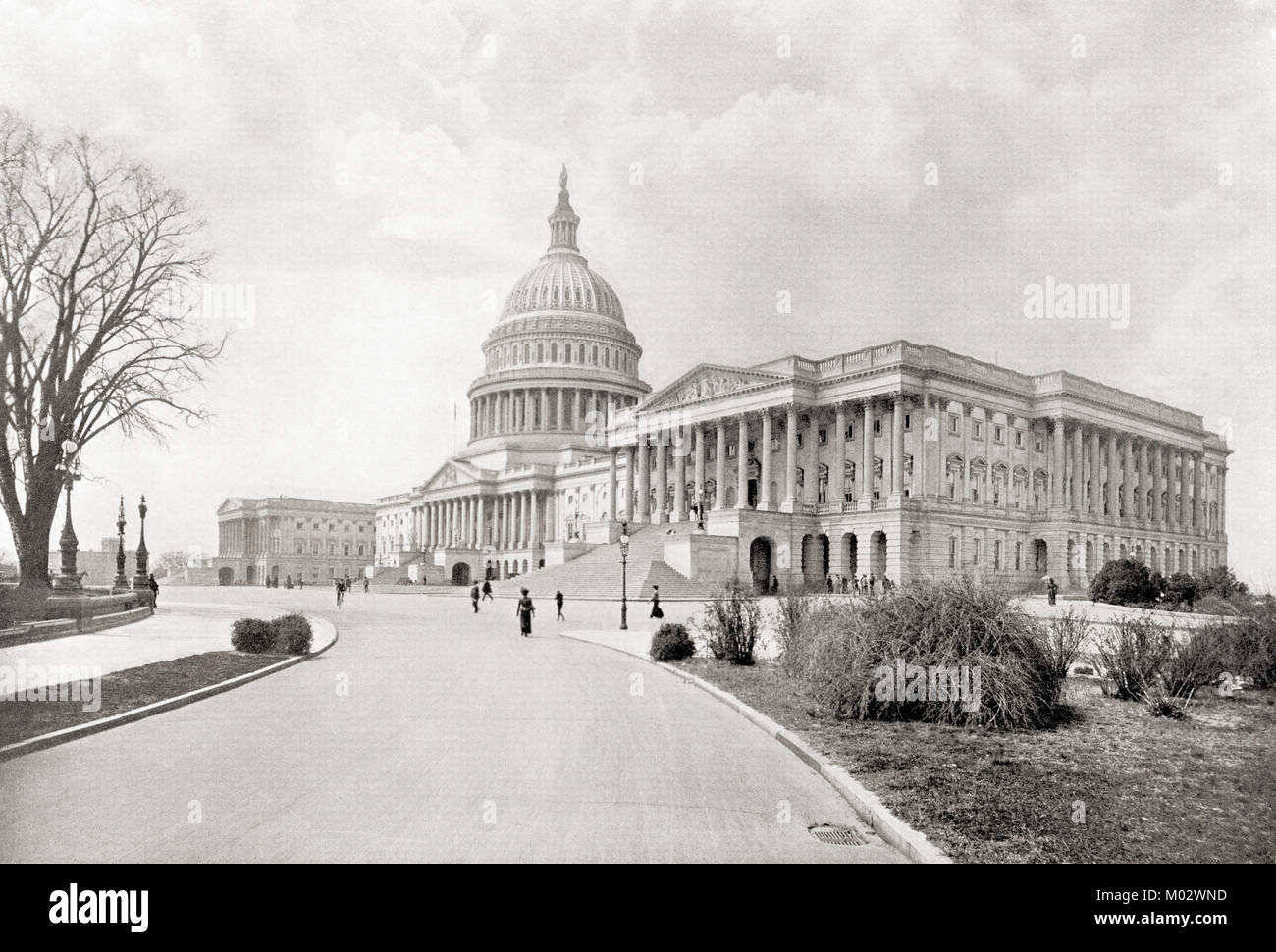 The United States Capitol, aka Capitol Building, Washington D.C., United States of America, seen here c.1911.  From - Stock Image