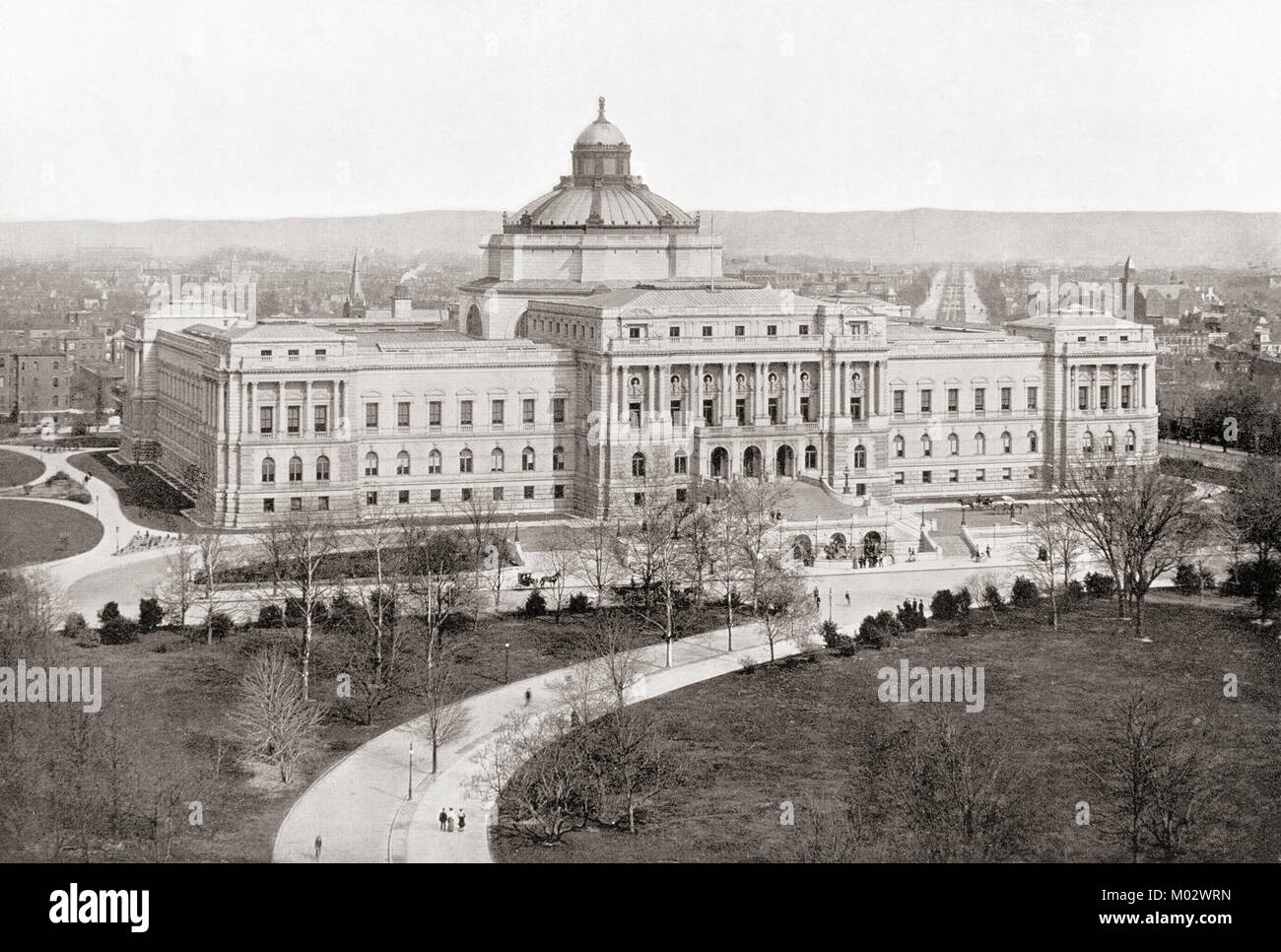 The Library of Congress, Washington D.C., United States of America, seen here c.1911, it is now known as The Thomas - Stock Image