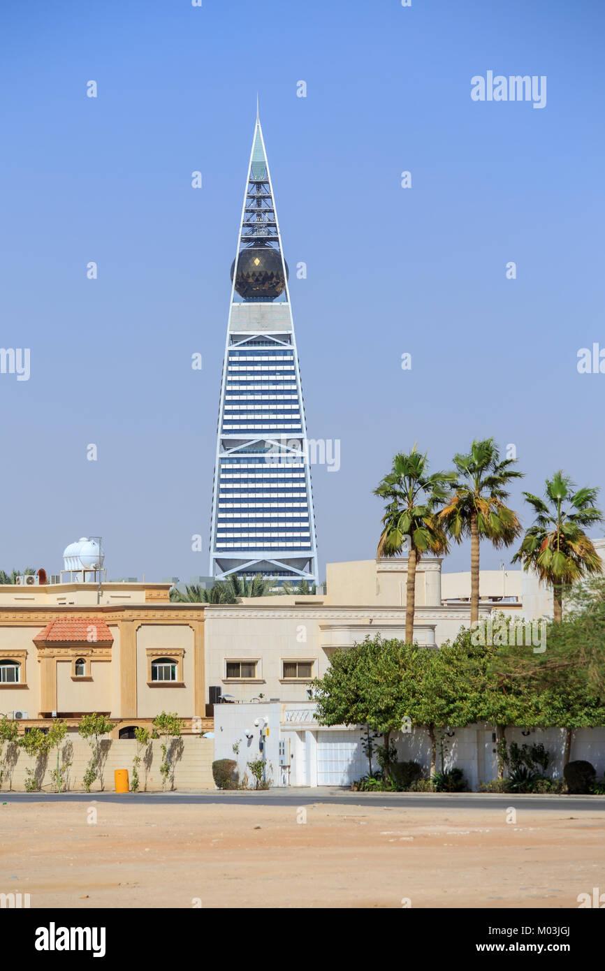 Al Faisaliyah Tower in Riyadh - Stock Image