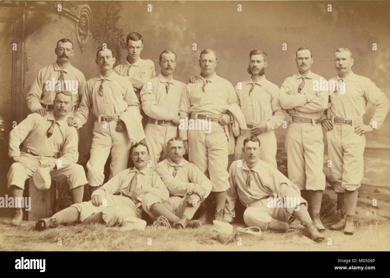 Metropolitan baseball nine 1882 - Stock Image