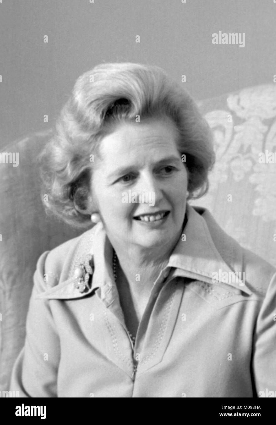 Margaret Thatcher (1925-2013). Portrait of the British Prime Minister in September 1975, photo by Marion S Trikosko. - Stock Image
