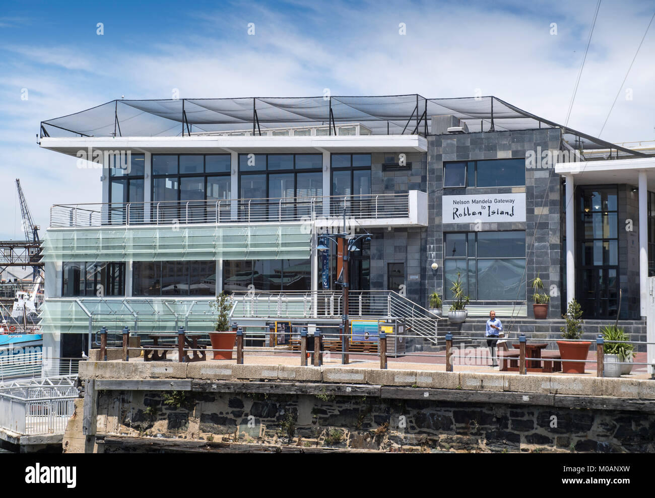 Nelson Mandela Gateway, a museum and ferry terminal to Robben Island, which is located on the V&A Waterfront - Stock Image