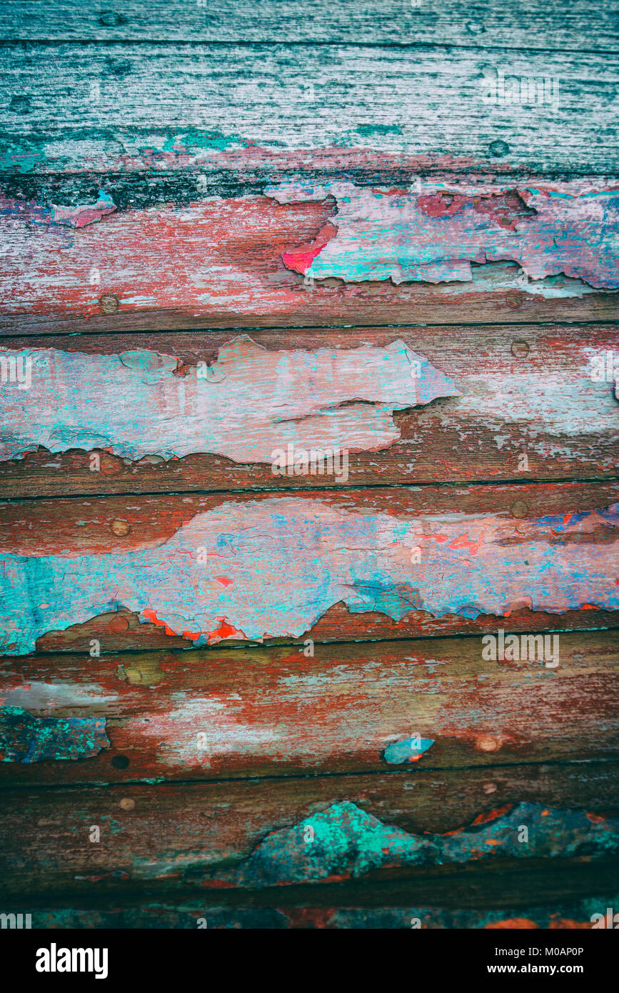 Detail of a weathered boat - Stock Image