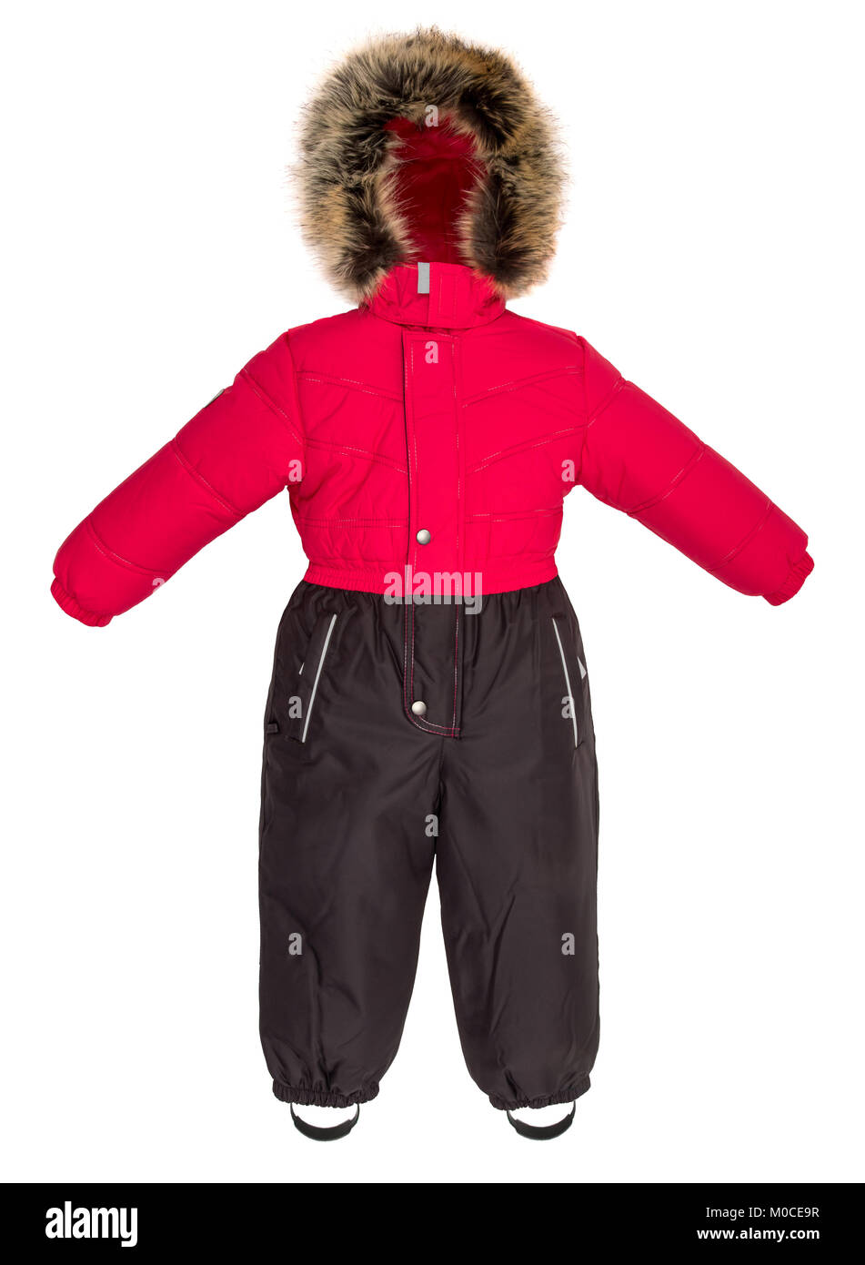 Childrens snowsuit fall on a white background - Stock Image