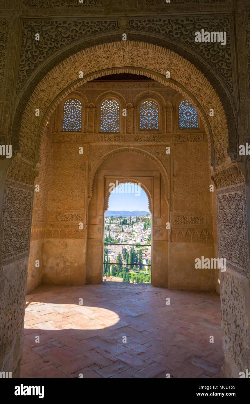 Alhambra of Granada - Spain - Stock Image