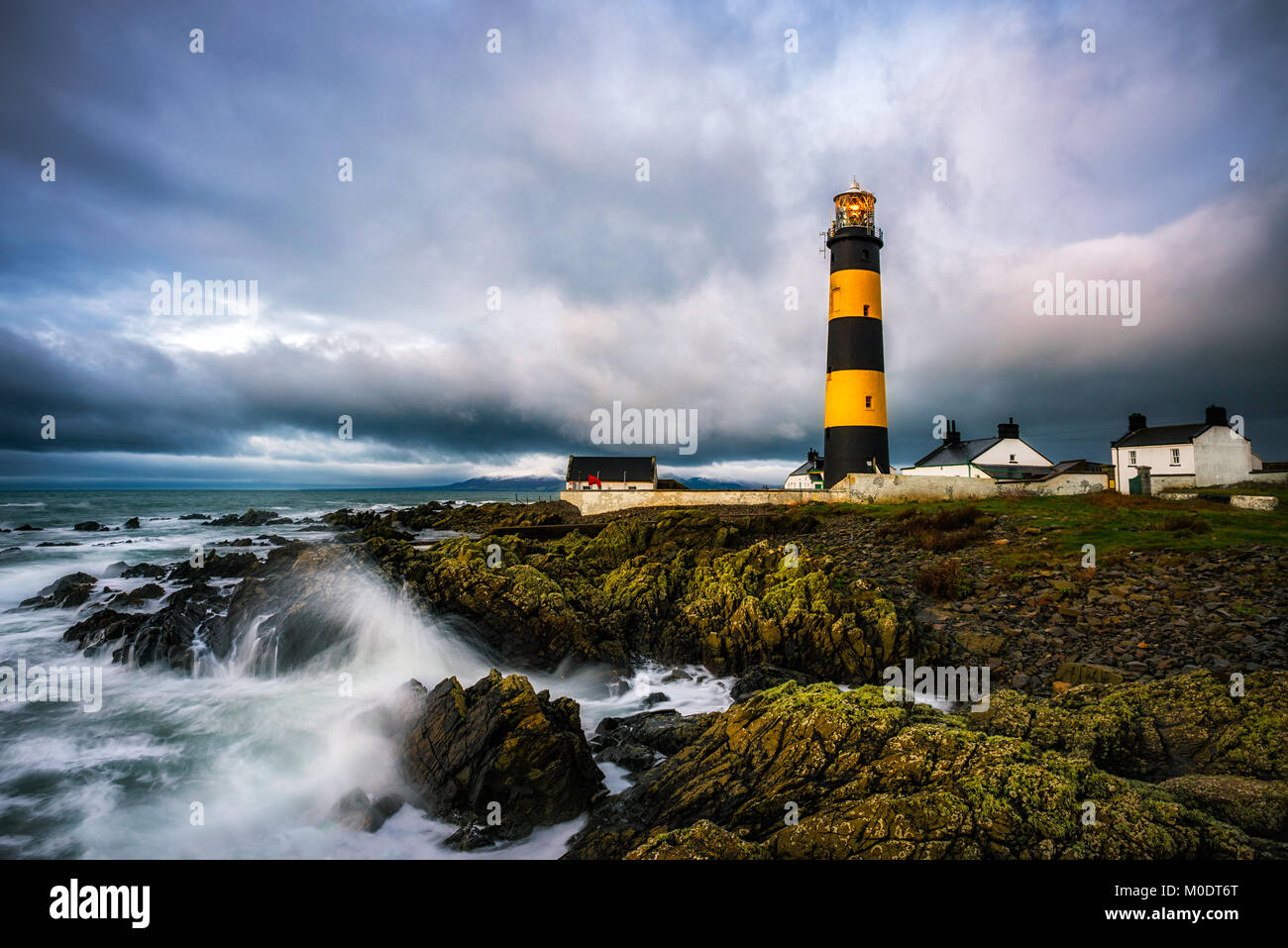 St Johns Point Lighthouse in County Down - Northern Ireland - Stock Image