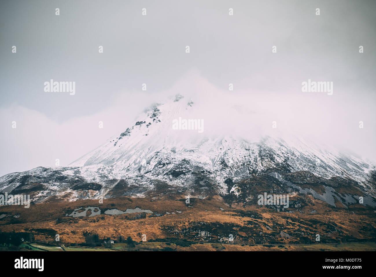 Mount Errigal in Donegal - Ireland - Stock Image