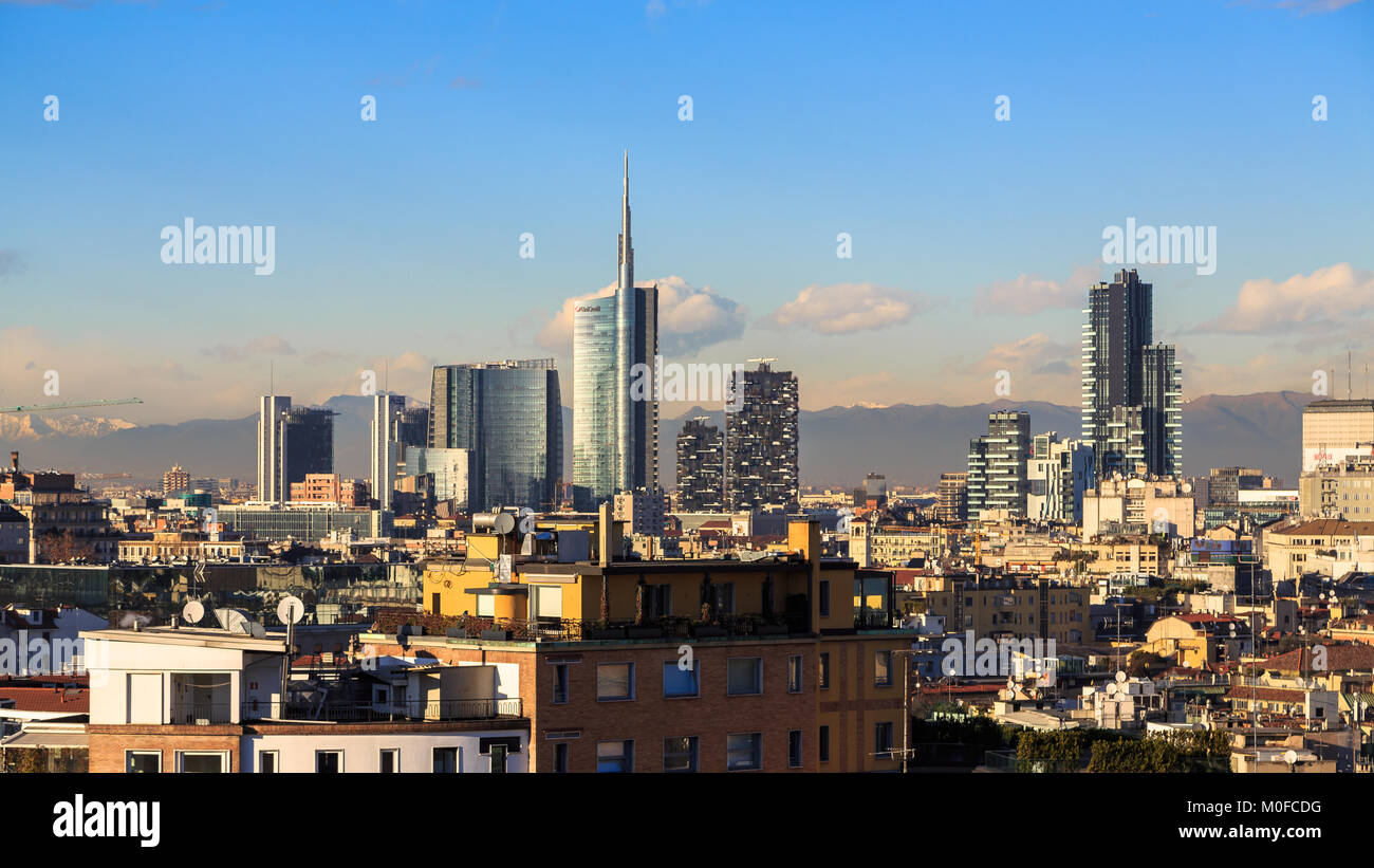 Milan, Italy, view on the skyline - Stock Image