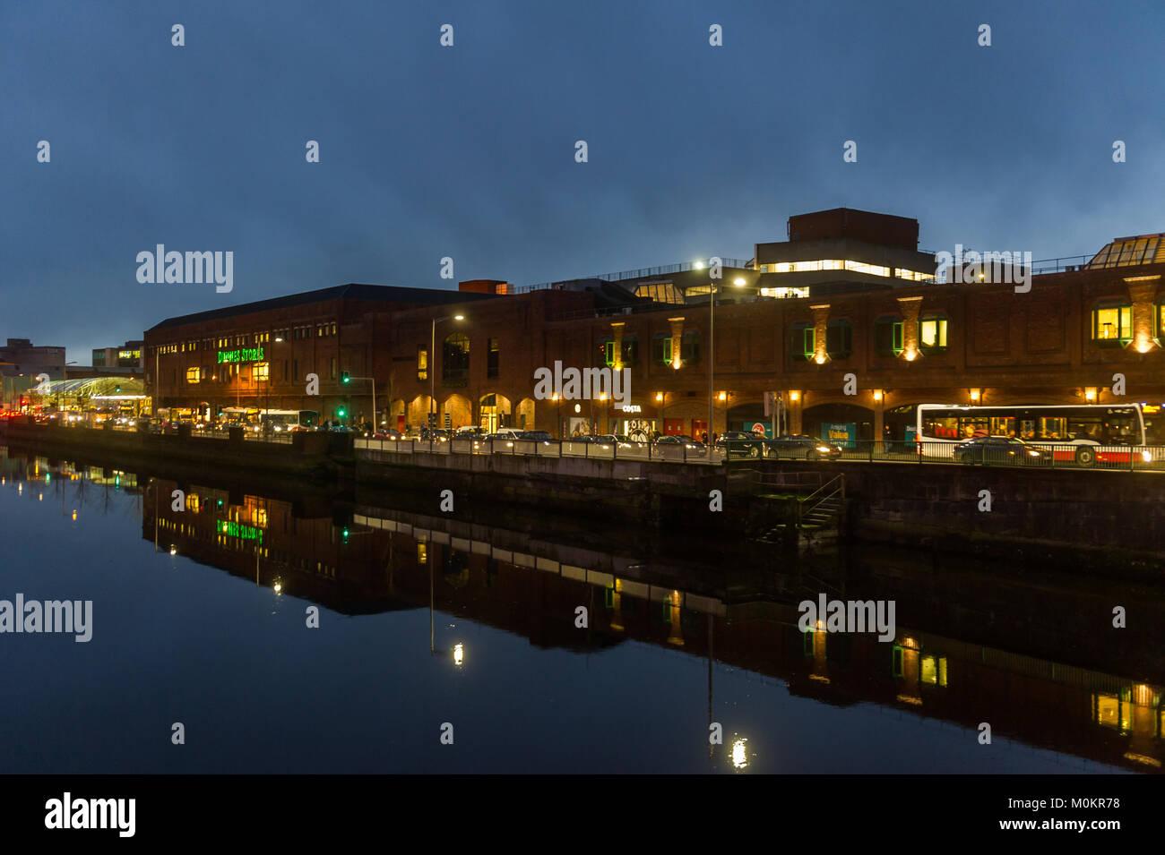 merchants-quay-cork-ireland-at-dusk-with