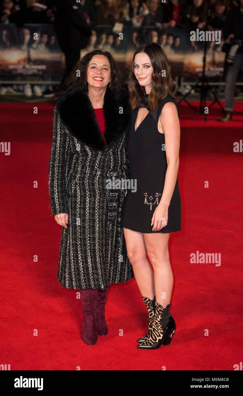 London, UK. 22nd Jan, 2018. Katia Scodelario and Kaya Scodelario attends the 'Maze Runner: The Death Cure' - Stock Image