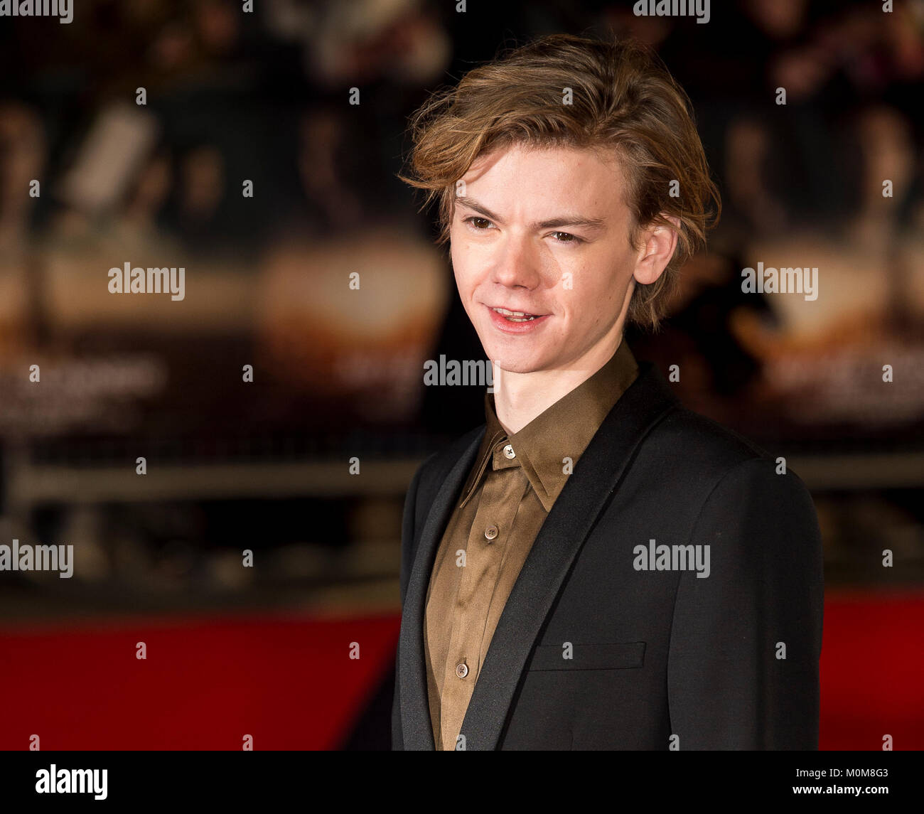 London, UK. 22nd Jan, 2018. Thomas Brodie-Sangster attends the 'Maze Runner: The Death Cure' film premiere, - Stock Image
