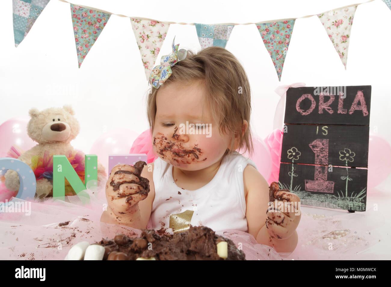 Birthday Girl Cake Face Smash