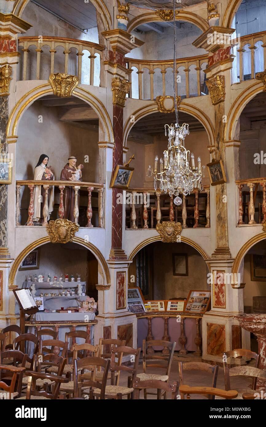 France,Tarn et Garonne,Lachapelle,Rostrum of St Peter's Church - Stock Image