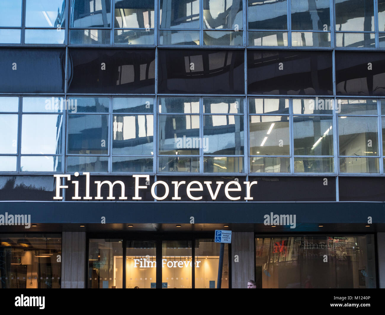 BFI Stephen Street Offices in London - British Film Institute screening and meeting rooms in central London UK - Stock Image