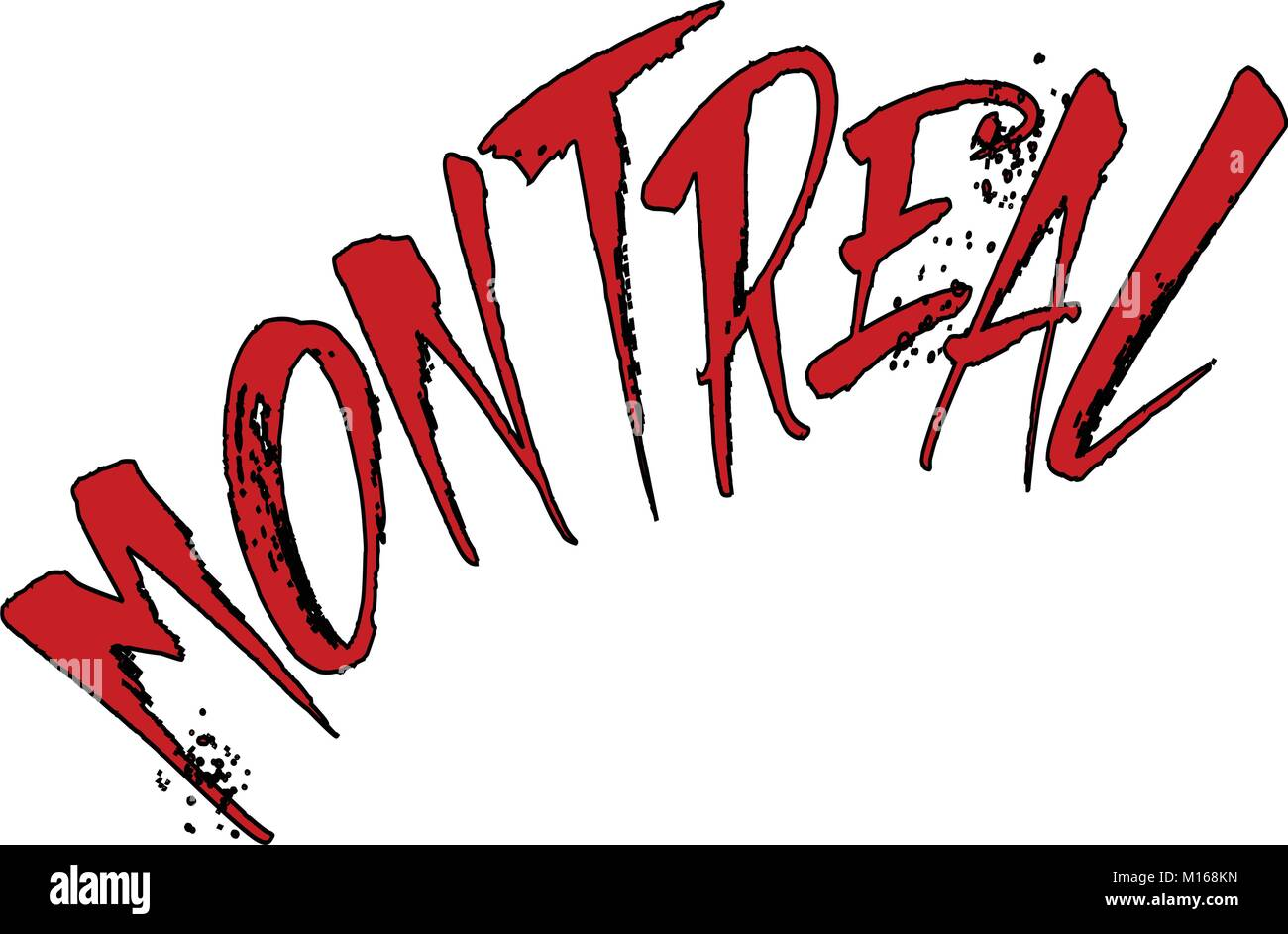 Montreal text sign illustration on white Background - Stock Image