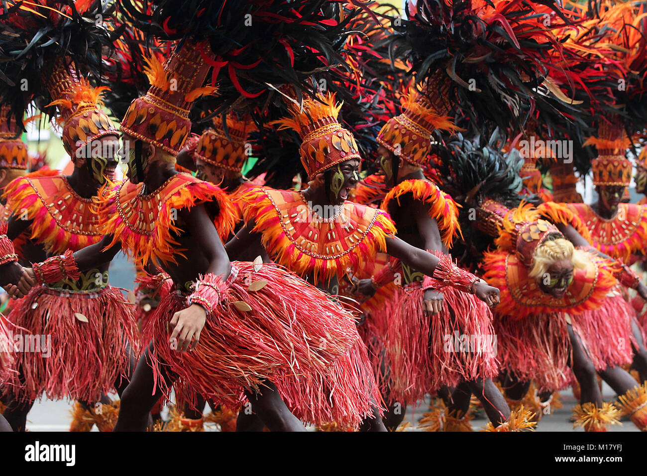 Dinagyang Festival in Iloilo City, Philippines 2019