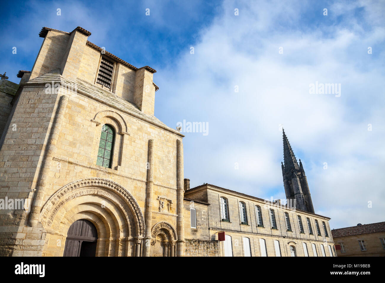 Entrance of Cloitre des Cordeliers (Cordeliers Cloister) in the city of Saint Emilion, in France. Famous for its - Stock Image