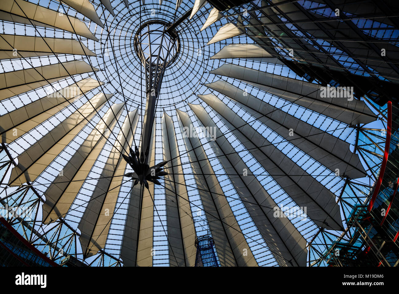 the roof of the Sony Center in Potsdamer Platz, Berlin - Stock Image