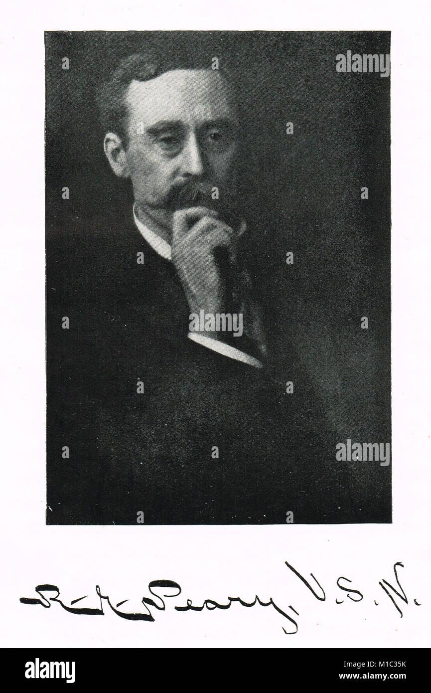 Robert Peary, American Arctic explorer, 1856-1920 - Stock Image