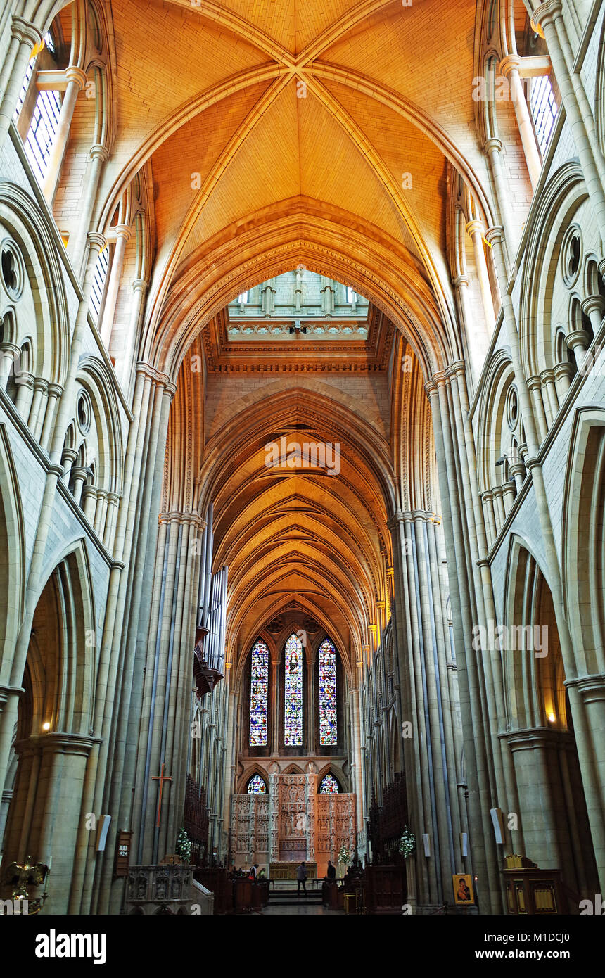 interior of truro cathedral cornwall, england, uk. - Stock Image