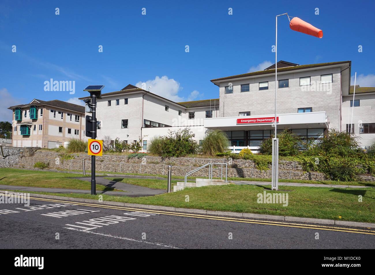 the royal cornwall hospital truro cornwall - Stock Image