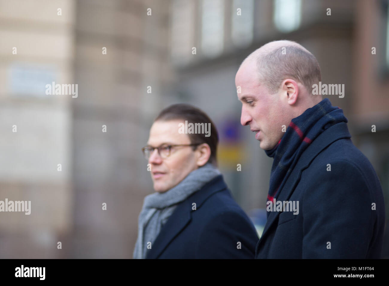 wStockholm, Sweden, 30th January, 2018. The Duke and Duchess of Cambridge's Tour of Sweden 30th-31th January,2018. - Stock Image
