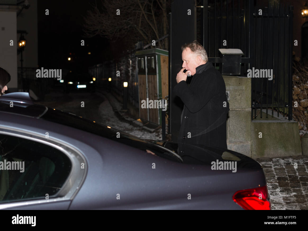 Stockholm, Sweden, 30th January, 2018. The Duke and Duchess of Cambridge's Tour of Sweden 30th-31th January,2018.Dinner - Stock Image