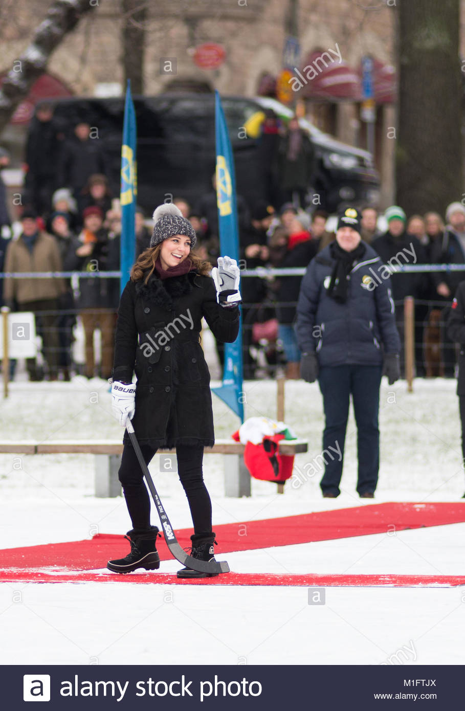 Stockholm, Sweden, 30th January, 2018. The Duke and Duchess of Cambridge's Tour of Sweden 30th-31th January,2018. - Stock Image