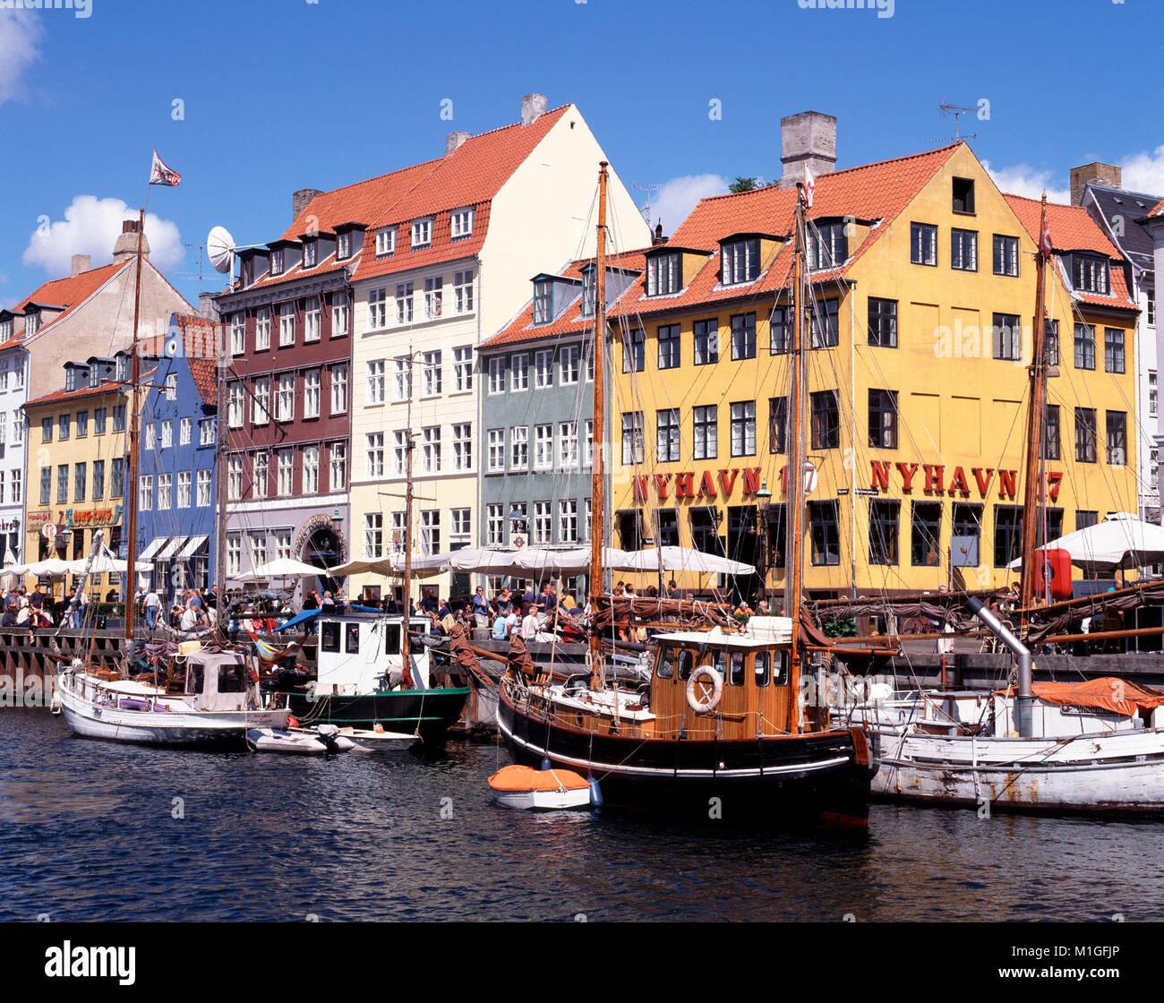 Nyhavn, Copenhagen, Denmark. - Stock Image