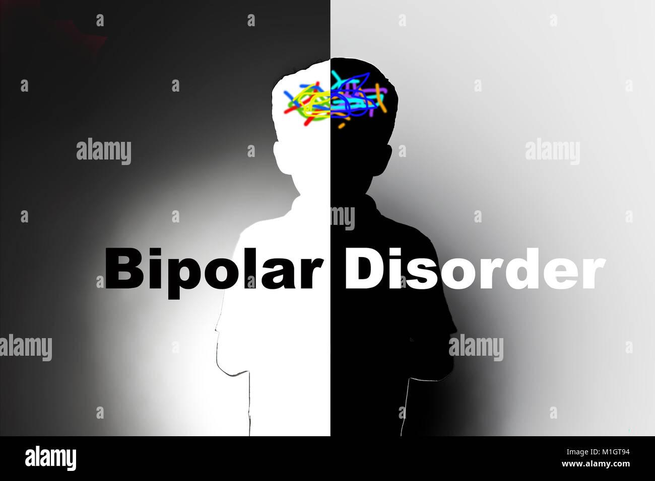 bipolar disorder, safeguarding children with mental illness - Stock Image