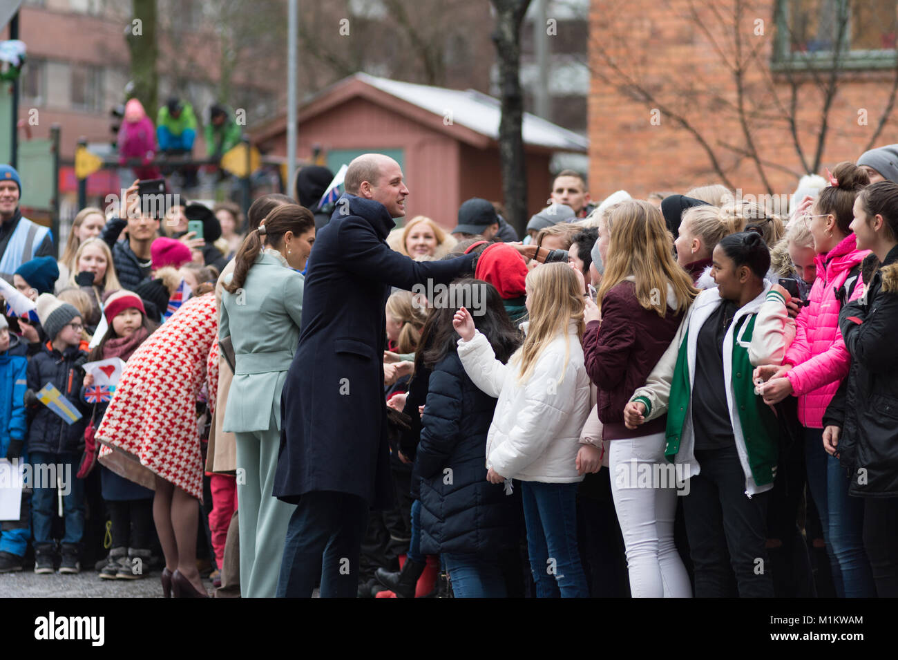 Stockholm, Sweden, 31th January, 2018. The Duke and Duchess of Cambridge's Tour of Sweden 30th-31th January,2018. - Stock Image
