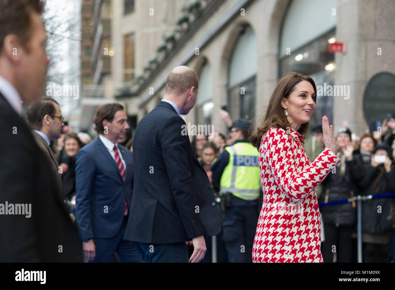 Stockholm, Sweden, 31th January, 2018. The Duke and Duchess of Cambridge's Tour of Sweden 30th-31th January,2018.Visiting - Stock Image
