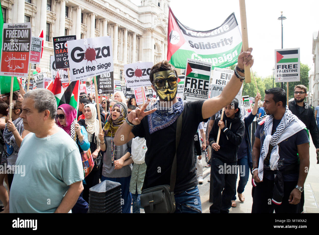 Stop the killing, Gaza March - Stock Image