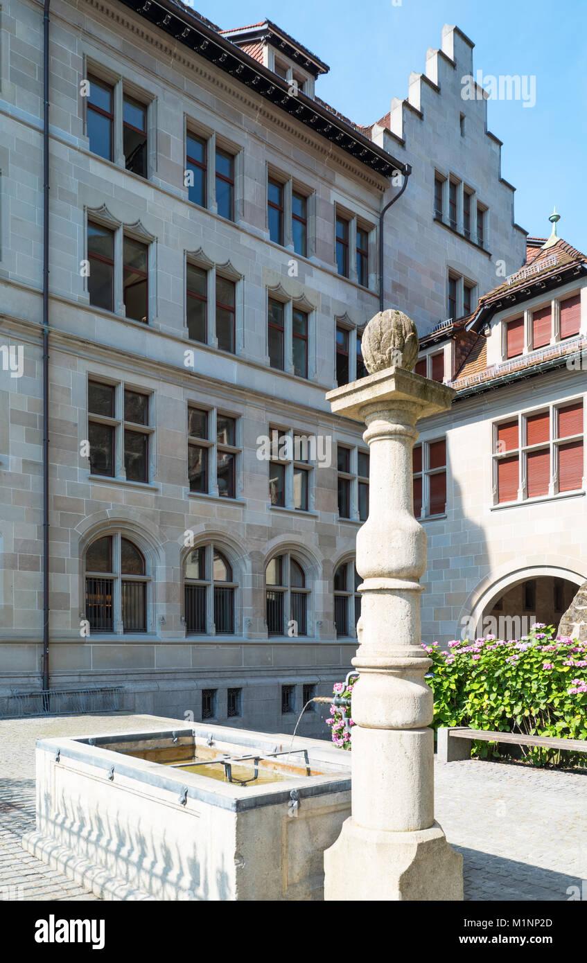 Zurich, Switzerland, the Fraumunster cloister - Stock Image
